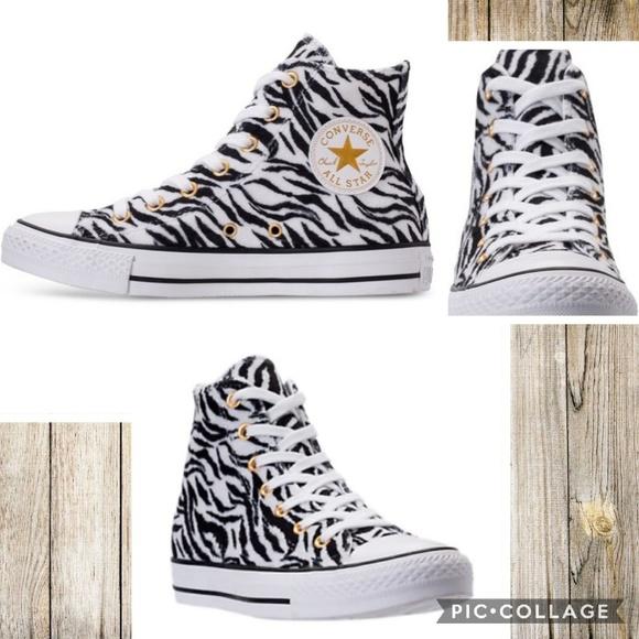 bbd96ab6594a Converse Shoes - Converse All Star Textured Zebra Print Hi-Tops